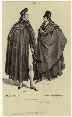 [Men in cloaks, France, 1830s.] Men -- Clothing & dress -- France -- 1830-1839
