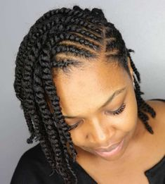 60 Easy and Showy Protective Hairstyles for Natural Hair Protective Twisted Bob Style Cabello Afro Natural, Pelo Natural, Natural Skin, Protective Hairstyles For Natural Hair, Natural Hair Braids, Natural Hair Cornrow Styles, Natural Hair Twist Styles, Simple Natural Hairstyles, Styling Natural Hair