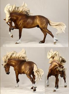 DUELO In Dappled Chocolate Chestnut, sculpted by Maggie Bennett. painted by Nan Wagner. model horse