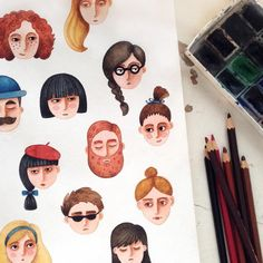 66 Ideas For Illustration Art Watercolor Painting Drawings Watercolor Art Paintings, Watercolor Portraits, Painting & Drawing, Gouache Painting, Watercolor Girl, Cute Illustration, Character Illustration, Watercolor Illustration, Cartoon Drawings