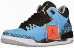 THE SNEAKER ADDICT: 2014 Air Jordan Dark Powder Blue 3 Retro III Sneaker Available Now (Detailed Look)