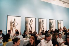 Dinner at Foam Fotografiemuseum Amsterdam in one of the exhibition rooms. Exhibition Room, Helmut Newton, Tree Branches, Amsterdam, Art Pieces, Photo Wall, Rooms, Dinner, Frame
