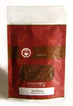 Mahamosa Red Christmas 2 oz - Rooibos Herbal Tea Blend Loose Leaf (Looseleaf) (with apple, cinnamon, orange, almond) *** Want additional info? Click on the image. (This is an affiliate link) #RooibosTea