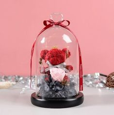 Silk Roses, Silk Flowers, Dried Flowers, Merry Christmas, Christmas Gifts, Holiday Gifts, Glass Flask, Teddy Bear Gifts, Rose Boutonniere