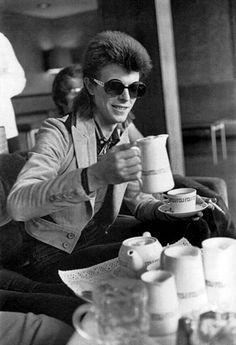 David Bowie #classic #coffee #blackandwhite