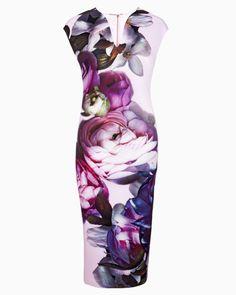 Sunlit Floral midi dress - Pale Pink | Dresses | Ted Baker