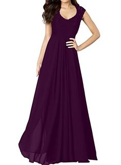 VaniaDress Chiffon Sleeveless Long Bridesmaid Dress Lace Prom Gowns V278LF Dark Purple US26W *** Be sure to check out this awesome product-affiliate link.