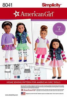 18 pulgadas Dolll ropa patrón American Girls muñeca por blue510                                                                                                                                                                                 Más