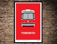 Toronto Streetcar Print by ScottyGraham on Etsy
