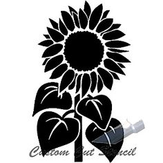Sunflower Stencil - 5 | tattoo | Pinterest | Stencils ...