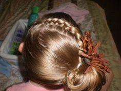 Girl Hairdos & Ideas: a french braid on it's side