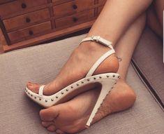 Stilettos, Stiletto Heels, Sexy Legs And Heels, Hot High Heels, Beautiful High Heels, Gorgeous Feet, Sexy Sandals, Bare Foot Sandals, Feet Soles