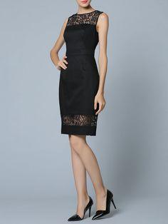 2c95fabbf55e Black Pierced Sleeveless Sheath Midi Dress