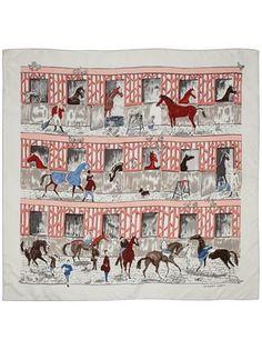 Hermès Vintage Horse Pattern Scarf - - Farfetch.com