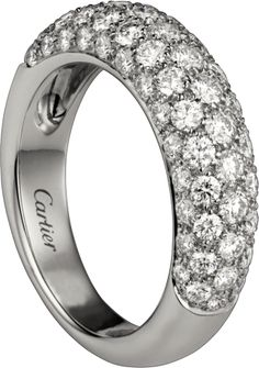 $10500 Cartier Classic Diamond ring White gold, diamonds
