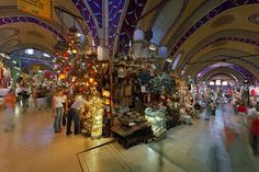 Grand Bazaar in Istanbul. No one picture can capture all of the Grand Bazaar. Around The World In 80 Days, Around The Worlds, World's Most Beautiful, Beautiful Places, Cool Places To Visit, Places To Travel, Grand Bazaar Istanbul, Holiday Destinations, Travel Destinations