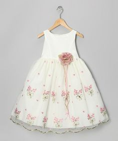 Ivory & Rose Embroidered Floral Dress - Toddler & Girls