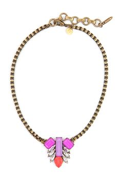 PIPPA PETITE NECKLACE IN SAFFRON - Loren Hope This version is small enough that I think I'd be able to pull it off.
