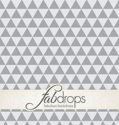 Grey on Gray Tribal Triangles Photography Backdrop by FabDrops