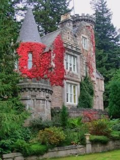 Ivy covered home in Scotland