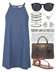 """""""Easy Peasy: Throw-and-Go Dresses 2019"""" by boxthoughts ❤ liked on Polyvore featuring Olive + Oak, Mulberry, Steve Madden, Yves Saint Laurent, Accessorize, Kobelli, Georgini and easypeasy"""