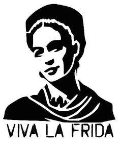 frida kahlo stencil - Buscar con Google