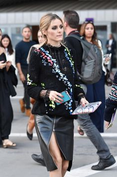 Olivia Palermo attends Versace show