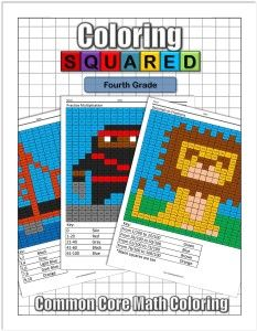 Coloring Squared: Fourth $9.95 Practice fourth grade math concepts while you color with fun pixel art coloring pages.