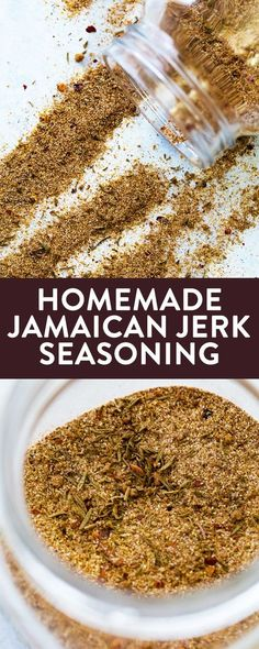This homemade Jamaican jerk seasoning is a low calorie way to spice up your chicken or pork dish. It's sweet, tropical, and a little spicy. Perfect on BBQ chicken or as a rib rub. Make this for your barbecue recipes this summer! Jerk Seasoning Recipe, Jamaican Jerk Seasoning, Seasoning Mixes, Jerk Rub Recipe, Italian Seasoning, Chicken Seasoning, Pulled Pork Recipes, Barbecue Recipes, Grilling Recipes