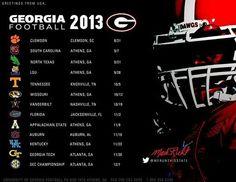 Georgia Football Schedule 2013