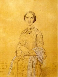 Ingres Madame Hippolyte Flandrin born Aimee Caroline Ancelot « Ingres Jean Auguste Dominique « Artists « Art might - sólo el arte