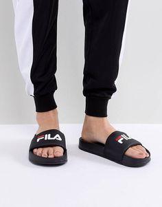 Fila Drifter Sliders In Black