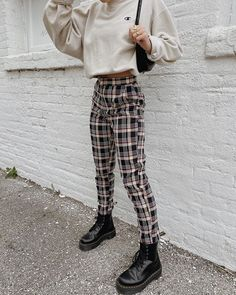 Plaid to the bone 😎🖤 loving how our girl @nataliezacek styled our newest Hard to Forget Plaid Pants. A necessity this season!