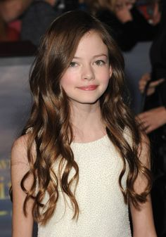 Mackenzie Foy!!!!     If you don't know who she is, she is an 12 year old actress, who has recently starred in The Twilight Saga - Breaking Dawn Part II as Renesmee Cullen, Bella and Edwards half-vampire, half-human daughter.
