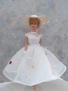Vintage Barbie Handmade Sheer Delight in White OOAK by Ann
