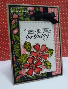 HAPPY HEART CARDS: STAMPIN' UP! BIRTHDAY BLOSSOMS, PRETTY PETALS CARD #1