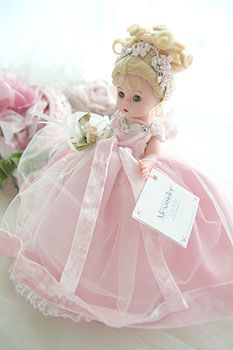 Ultra Pretty Madame Alexander Doll, light pink frock!