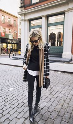 When in doubt, stick to neutrals and layer up.