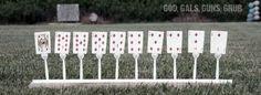 God, Gals, Guns, Grub: Five-Bucks: Plastic Fork Target Stands Shooting Practice, Shooting Targets, Shooting Sports, Shooting Guns, Shooting Range, Shooting Bench, Archery Targets, Paintball, Range Targets