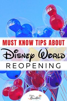Disney World has reopened but is it safe to travel with children? Get all the must-know tips about Disney's reopening including safety protocols and guidelines for wearing masks, dining and restaurants, hotels Disney World Tickets, Disney World Florida, Disney World Parks, Disney World Resorts, Disney Vacations, Disney Planner, Disney Vacation Planning, Disney World Planning, Trip Planning