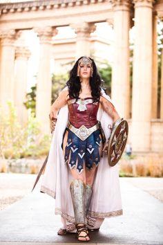 Wonder Woman warrior cosplay