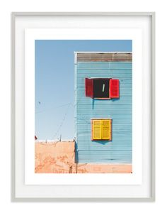"""""""La Boca shapes, Buenos Aires"""" - Art Print by Jacquelyn Sloane Siklos in beautiful frame options and a variety of sizes."""