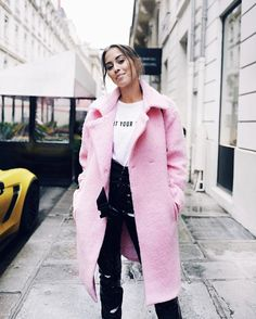 That coat.  Sooo into pink at the moment.  See more and get the look on my blog! Link in bio