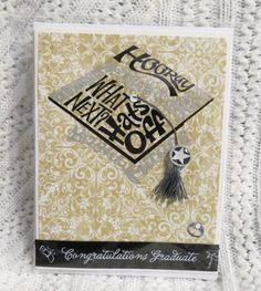 Hats off to the Graduation Handmade Card | luvncrafts - Cards on ArtFire
