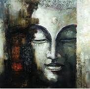 China Abstract Buddha Oil Painting (PT-1023) - China Portrait Buddha ...