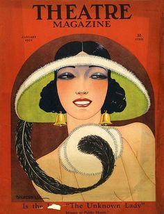 Art deco style - Vintage Theatre Magazine Cover–Bell Earrings 1924 by Michael Art Deco Illustration, Art Vintage, Vintage Posters, Retro Art, Cover Art, Art Deco Stil, Retro Poster, Kunst Poster, Art Deco Posters