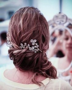 Hermoso peinado de novia ^#peinados #novia #cabello