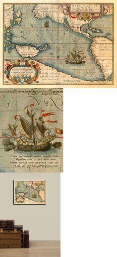 Typus Orbis Terrarum 1608 Vintage Style Exploration World Map 20x28