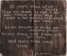 """dancingraphics: """" dreams, d. lawrence (for the sketchbook project by me """" Quotable Quotes, Lyric Quotes, Me Quotes, Lyrics, D H Lawrence, Good Sentences, Single And Happy, Life Thoughts, Sweet Nothings"""