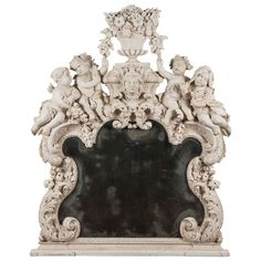 Late 17th Century Carved Overmantle Mirror, Northern France Or Germany Circa 1680. Restorations | From a unique collection of antique and modern mantel mirrors and fireplace mirrors at http://www.1stdibs.com/furniture/mirrors/mantel-mirrors-fireplace-mirrors/